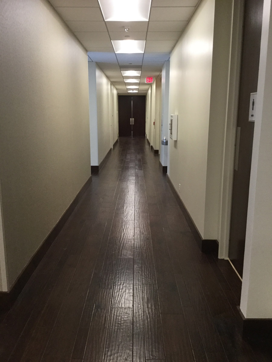 37th Floor Corridor with Baroque Sierra Plus Engineered Wood.