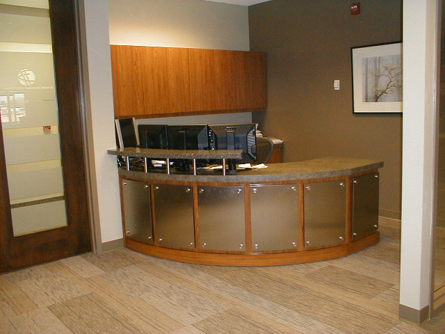 Custom Reception Desk with 3Form by BRC Group
